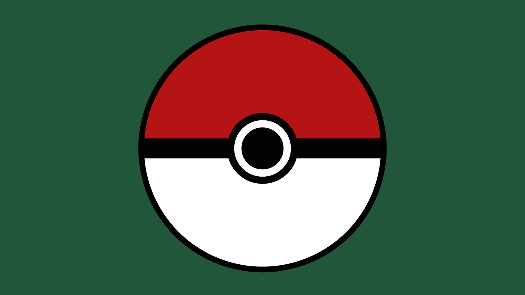 Pokeball on a Green Background
