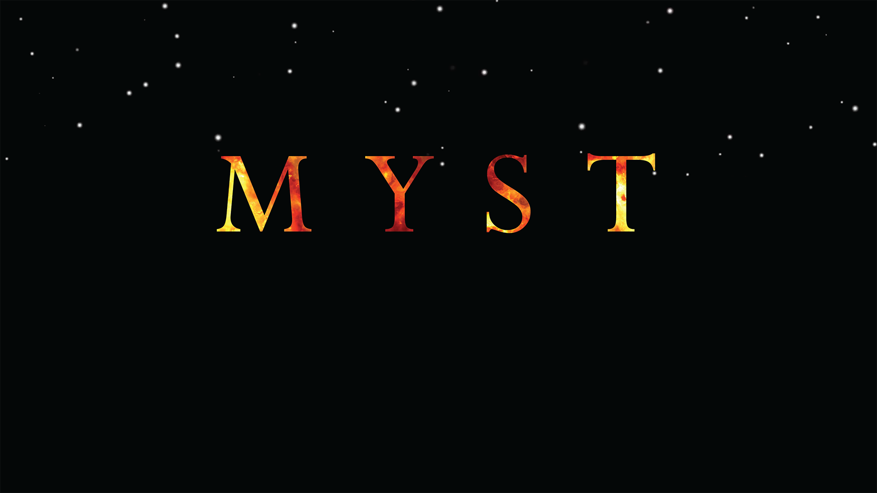 Myst splash screen
